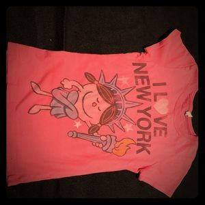 Girls Little Miss New York tee!